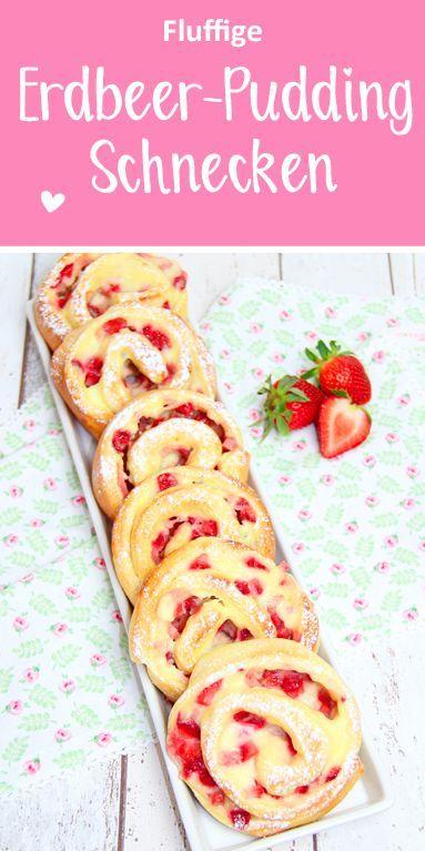 Erdbeer-Pudding-Schnecken - dieHexenküche.de | Thermomix Rezepte