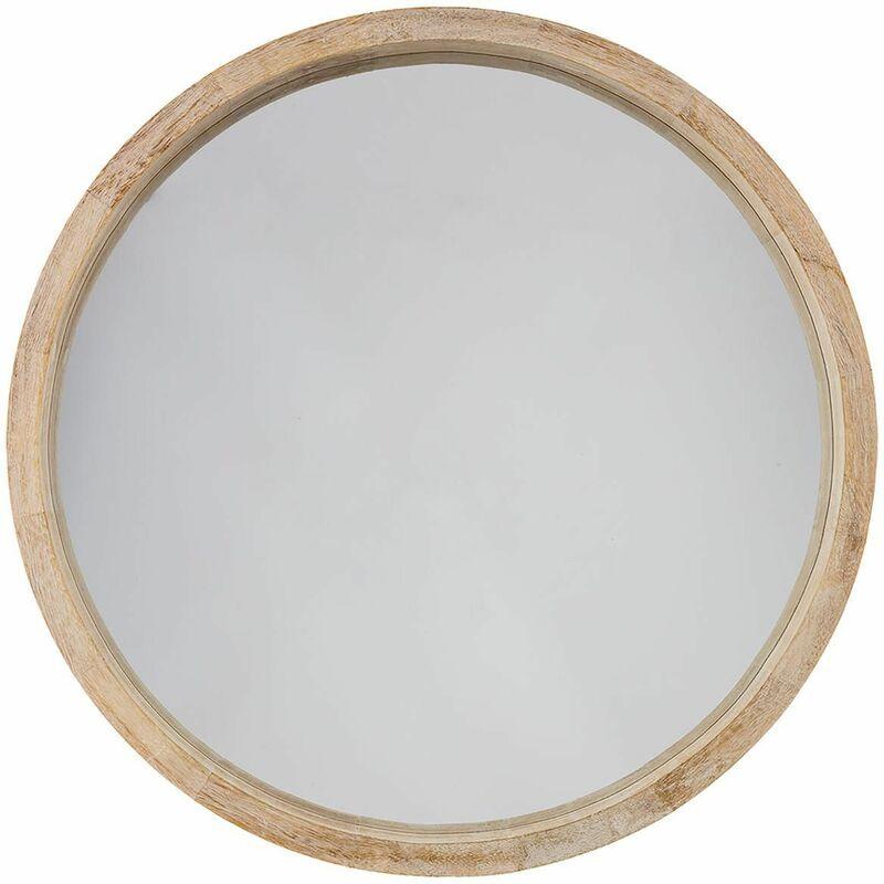 miroir forme ronde couleur naturel