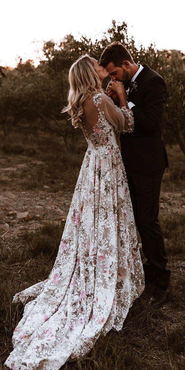 36 bonitos vestidos de novia florales para novias %% sep %% %% sitename %%  – Boda fotos