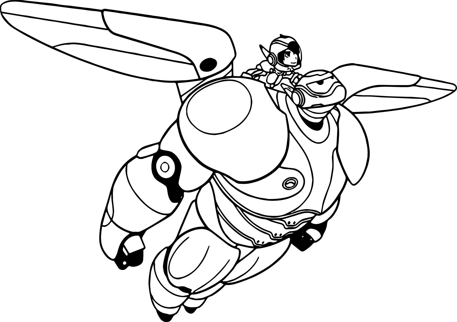 Cool Big Hero 6 Characters Baymax Hiro Coloring Page Big Hero 6