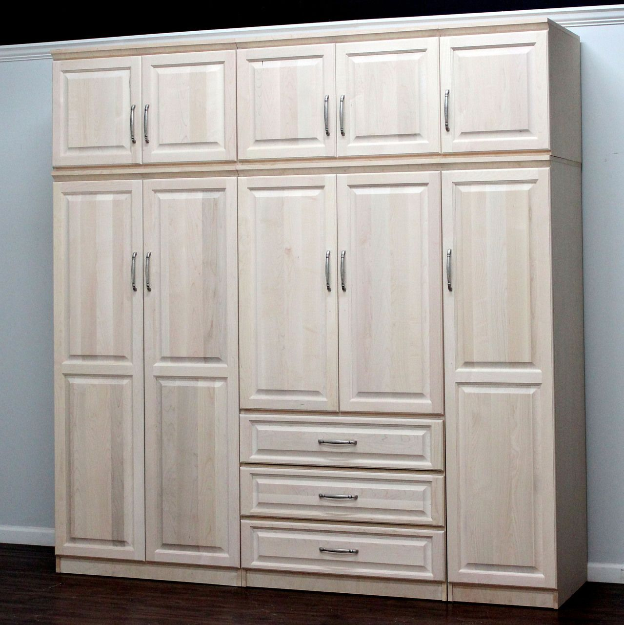 raised panel wall closet system 6 piece set raised panel panel gothic cabinet craft quality wood furniture since visit one of our 20 locations or purchase online today