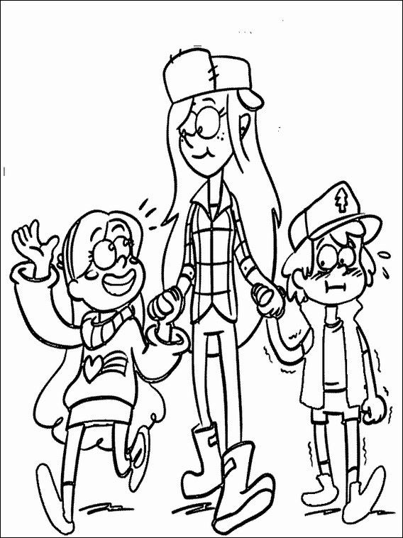 bill gravity falls coloring pages - photo#25
