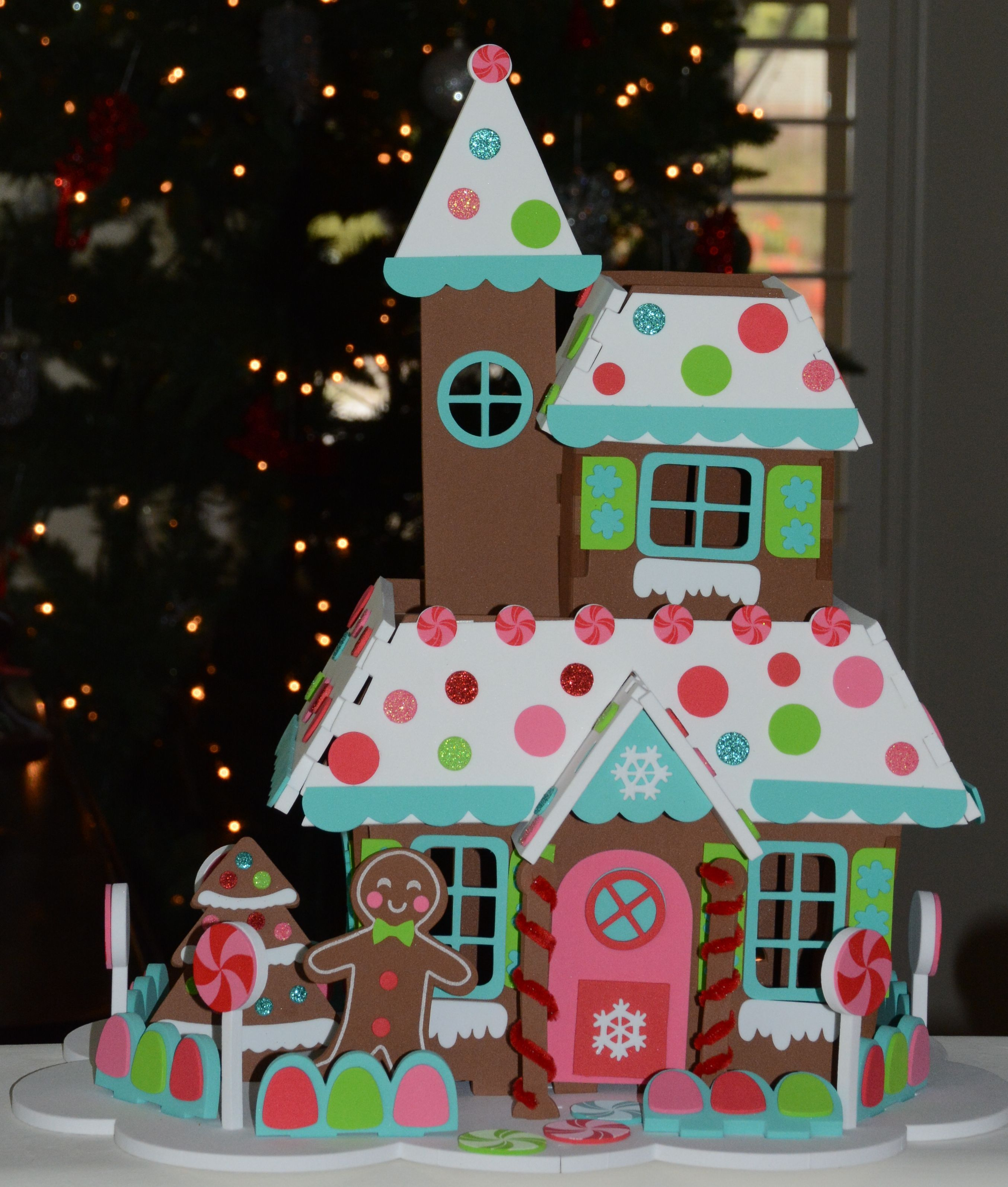 Gingerbread House Made Out Of Foam Board The Whole Family Can Make
