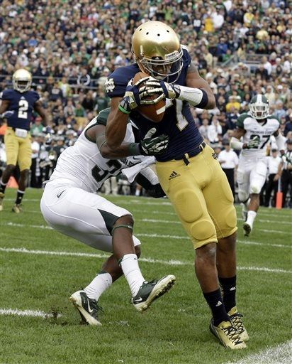 Notre Dame Wins By 3 Against Michigan State College Football News Michigan State Football Michigan State