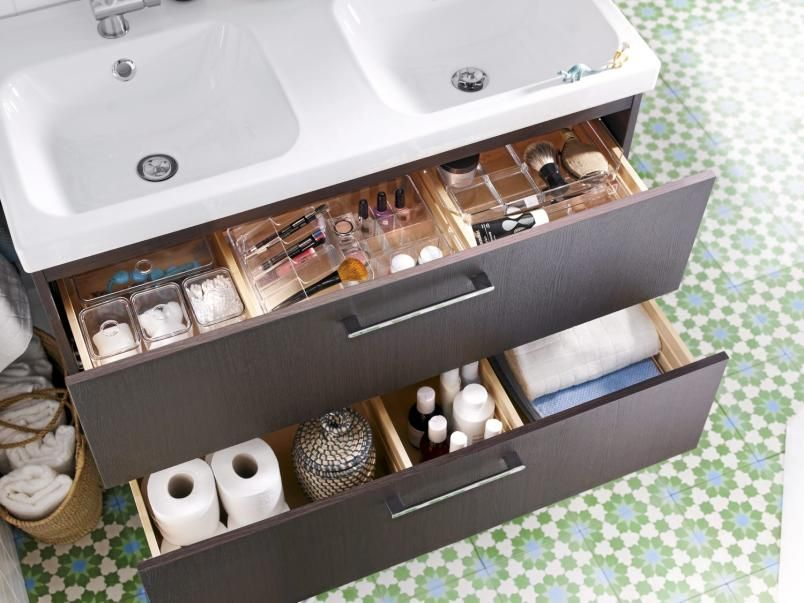 Photo of Drawers with storage, Ikea, sink