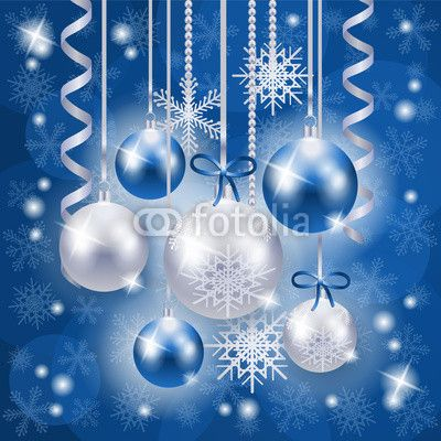 #Christmas time! ;) New at #Fotolia :) #baubles #blue #vector