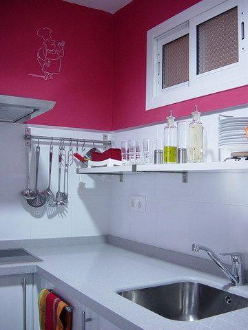 Cocina, rosado. | ¡DO A HOME! | Pinterest | Cocina pequeña, Cocinas ...