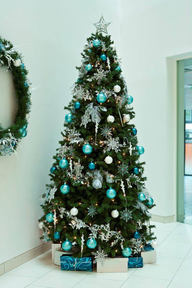 Mesmerizing Blue Christmas Tree Decoration Ideas | Teal christmas ...