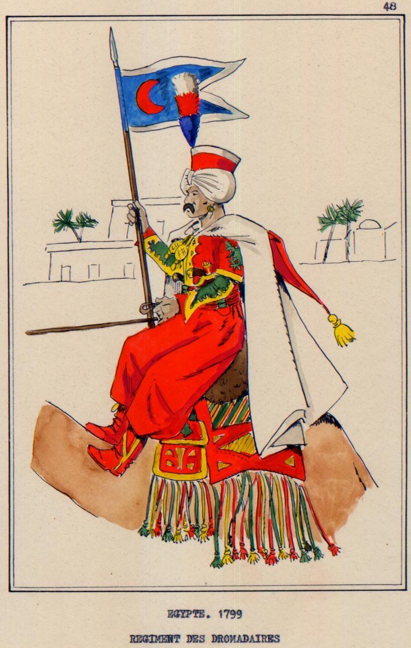 French; Dromedary Regiment, Mameluk, Egypt, 1800