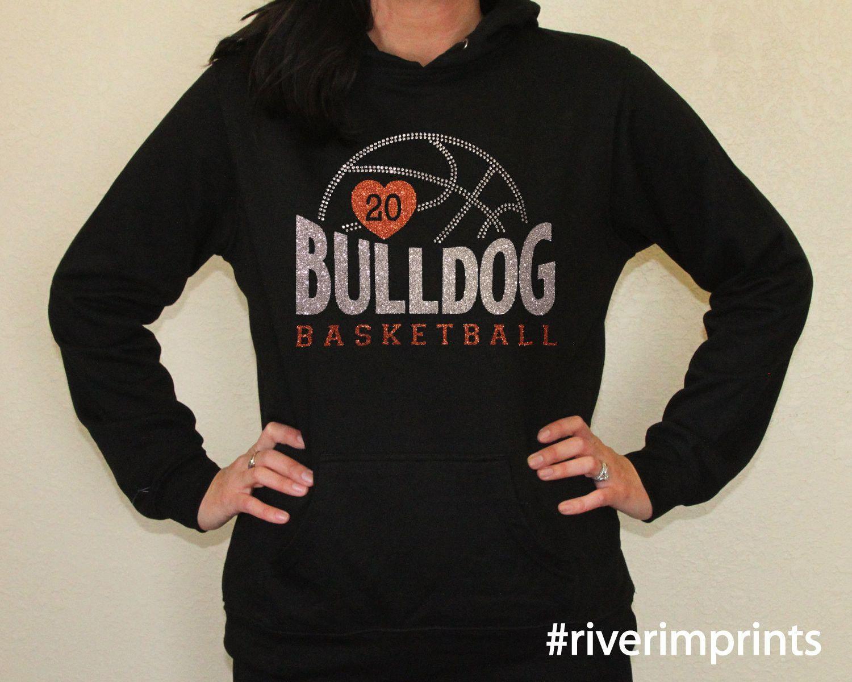 0d934dcff MASCOT BASKETBALL Personalized Glittery Midweight Hooded Sweatshirt ...
