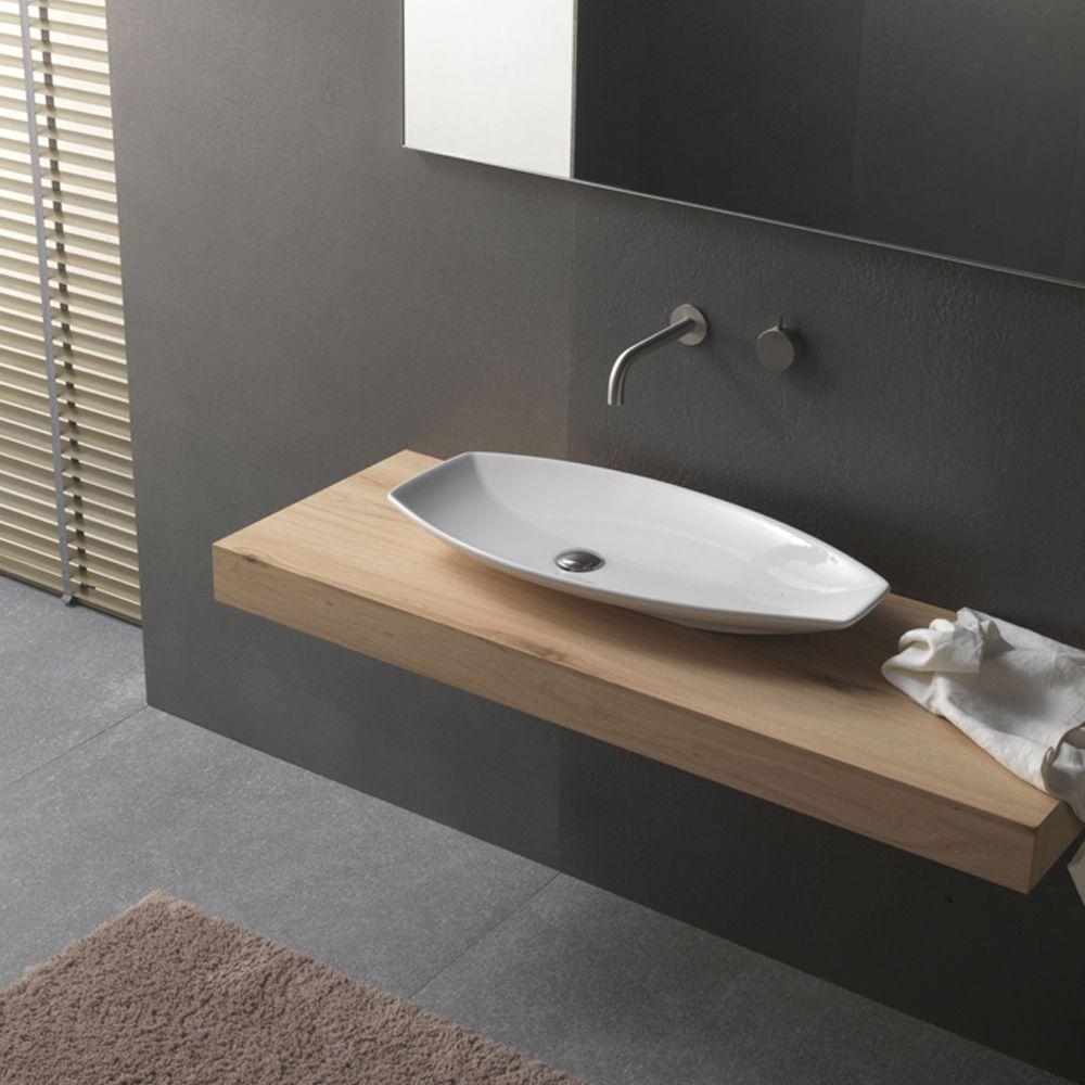 Lavabi Moderni Per Bagno.Lavabo Da Appoggio In Ceramica Dal Design Moderno Novello Lavabo