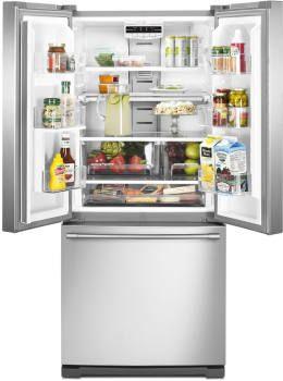 Maytag MFF2055FRZ 30 Inch French Door Refrigerator With FreshLock™  Crispers, Wide N