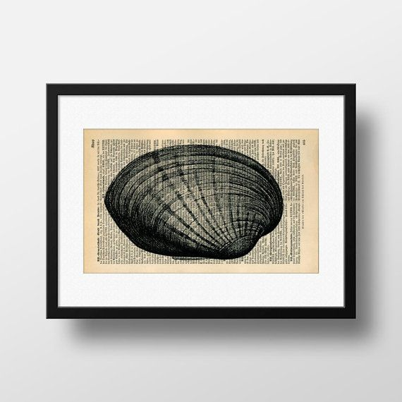 Seashell Dictionary Art  Art print on by FramedBooksArt on Etsy