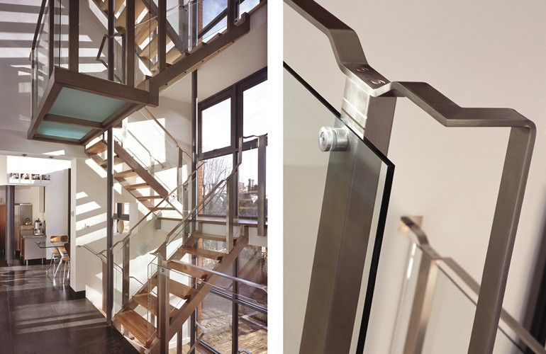 Multi-flight staircase with simple detailing, private client Nottingham.