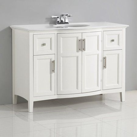 brooklyn max wilshire 48 inch white bath vanity rounded front in rh pinterest com