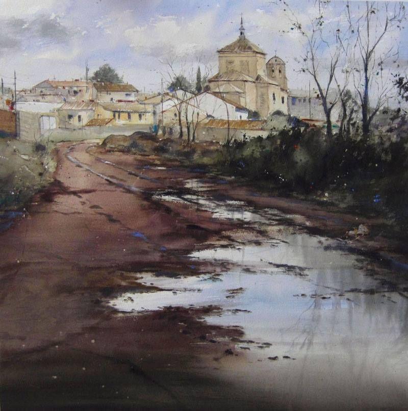 Pablo Ruben Lopez Sanz Watercolor Painting Watercolor Landscape