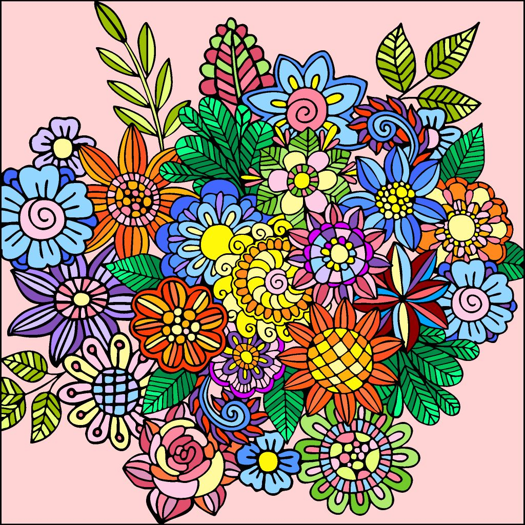 Pin By June Barrientos On Color By Numbers Coloring Book App Colorful Art Happy Colors