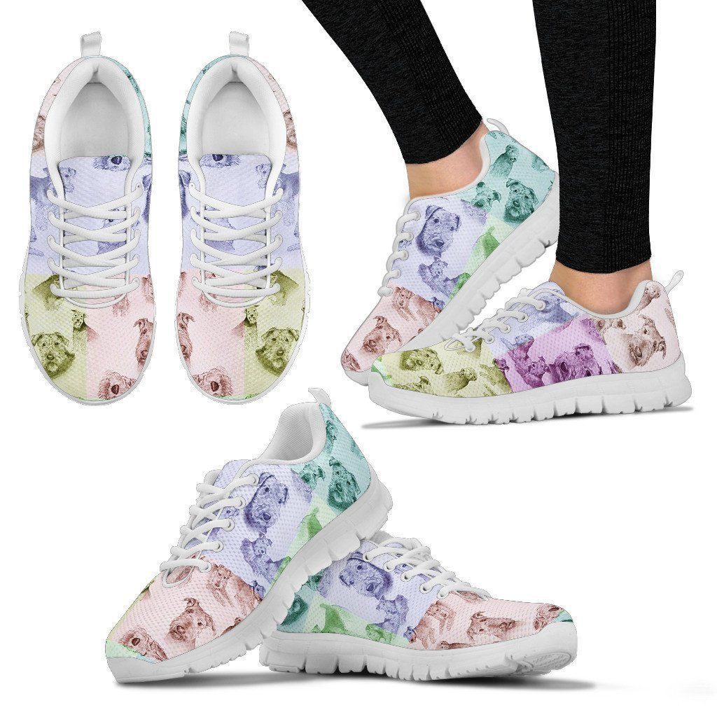 Airedale Terrier Pattern Print Sneakers For Women Express