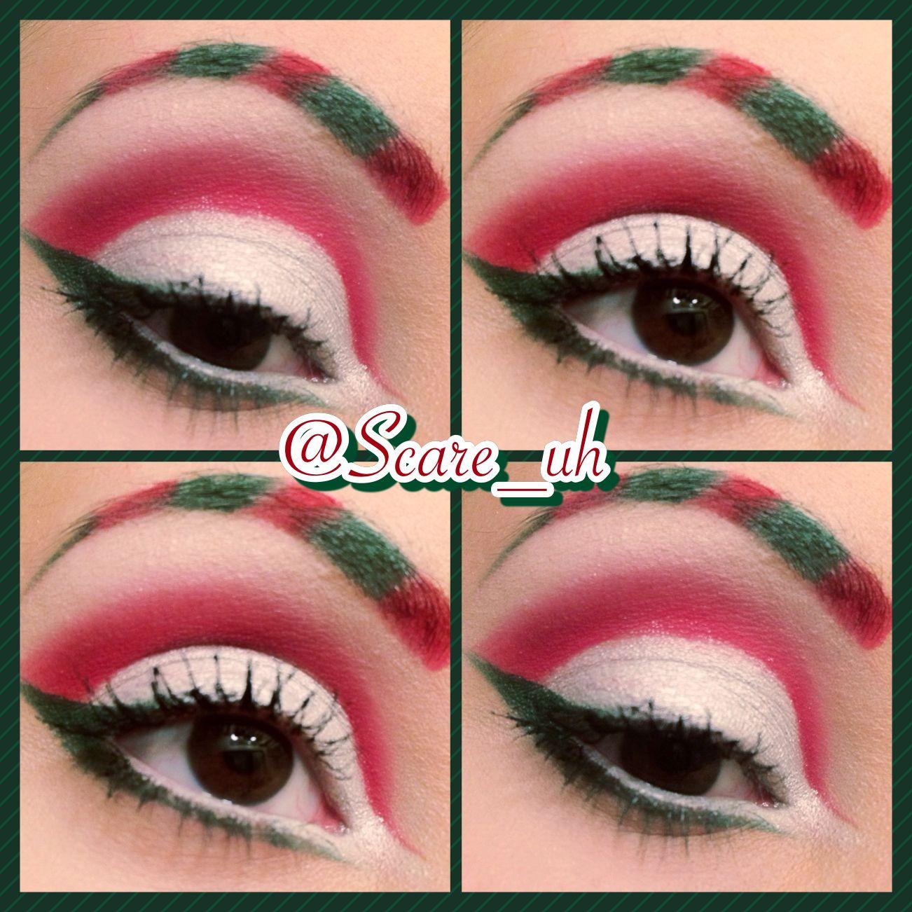 Christmas eye makeup! sugarpill urbandecay