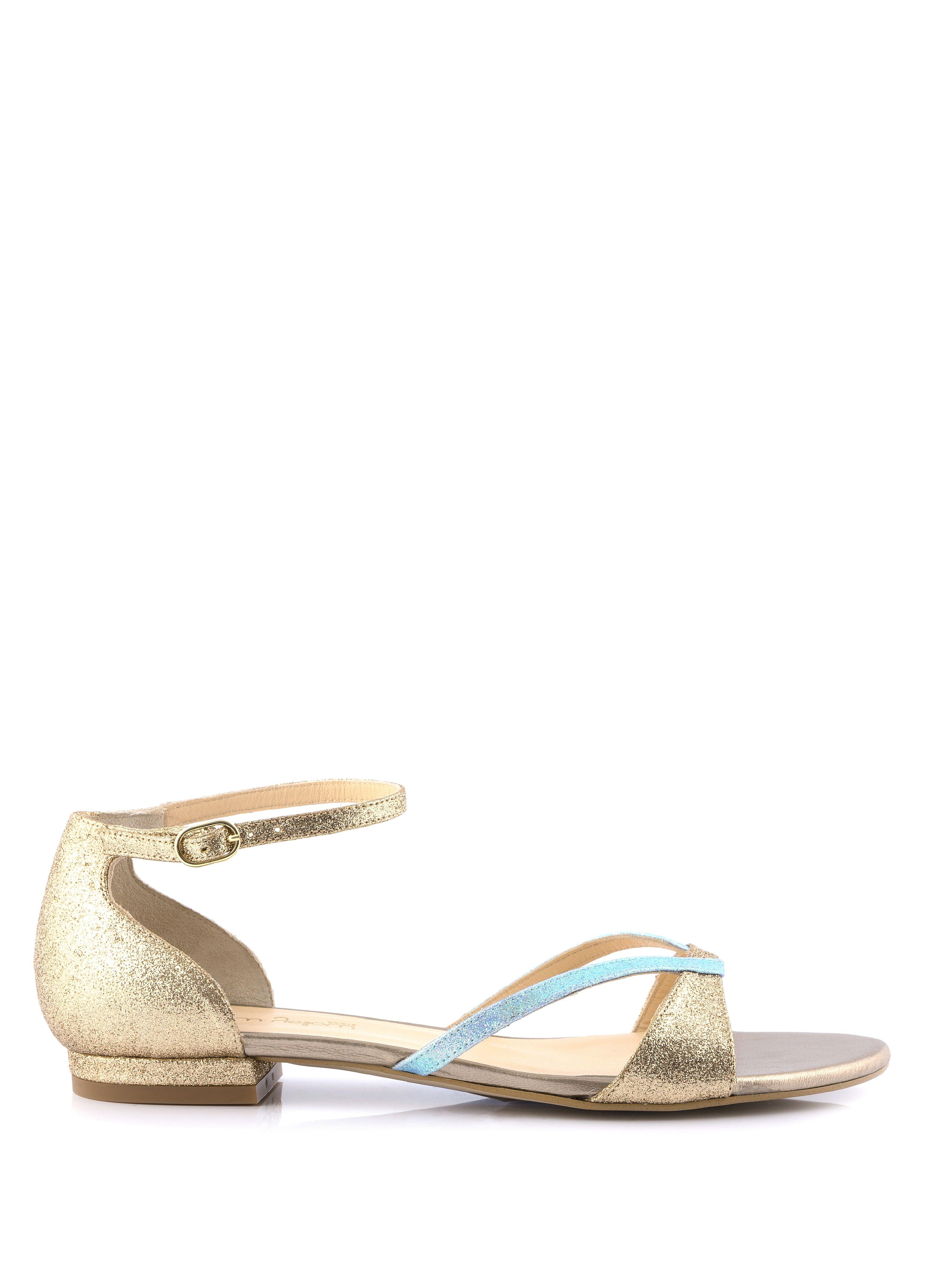 sandale plate sedante bleu clair - sandales plates - femme