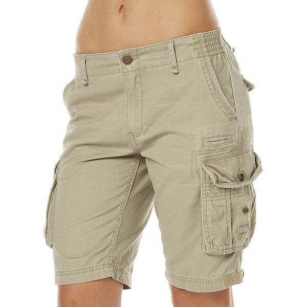 1f268f46a2 Womens Billabong Scout Cargo Womens Short Green Cotton ($61) ❤ liked on Polyvore  featuring shorts, cargo shorts, green, women, green cargo shorts, green ...
