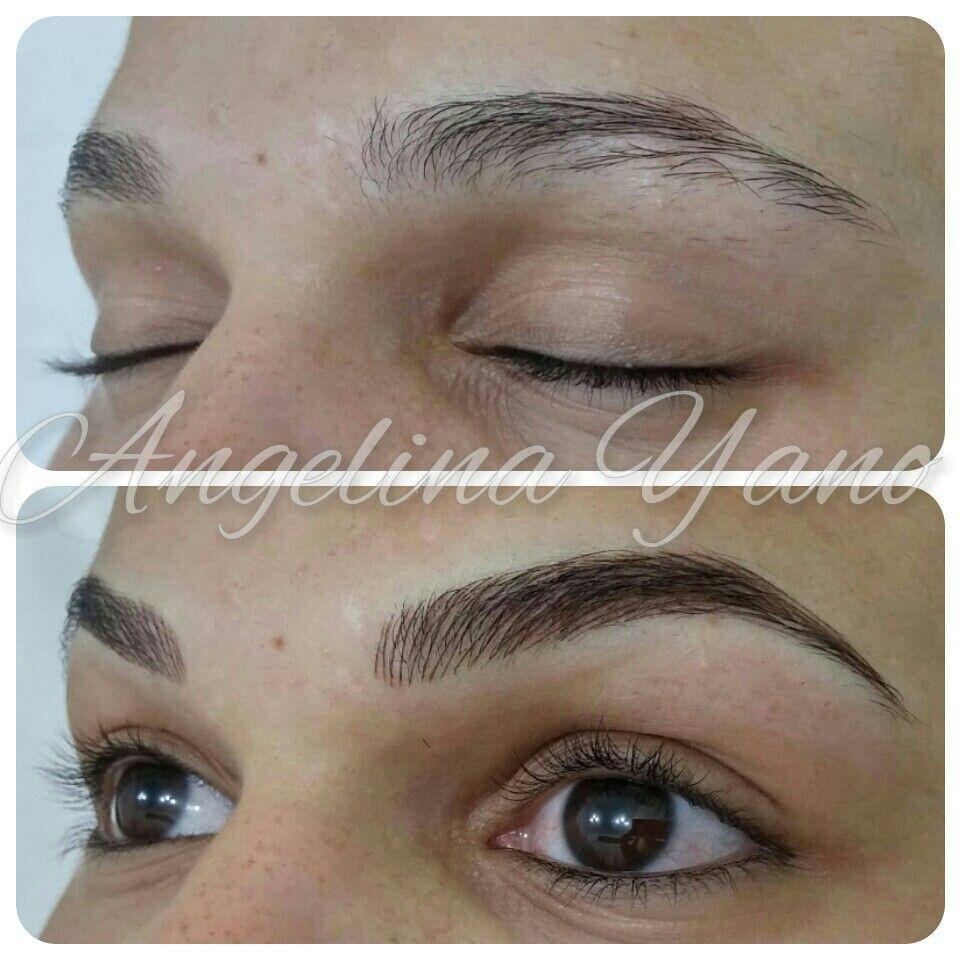 Eyebrows hairstroke micropigmenta o pinterest for Eyebrow tattoo microblading