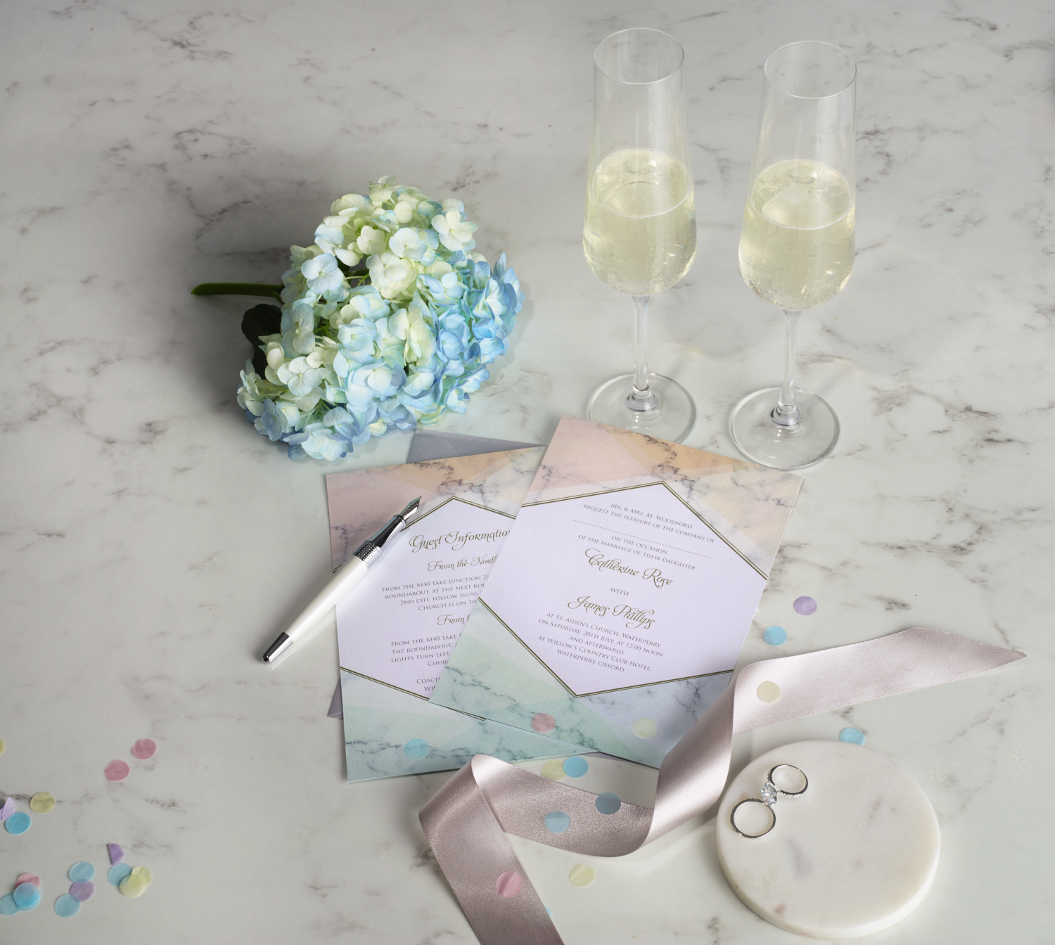 Adorable pastel coloured wedding invitations | Wedding - Pin to win ...