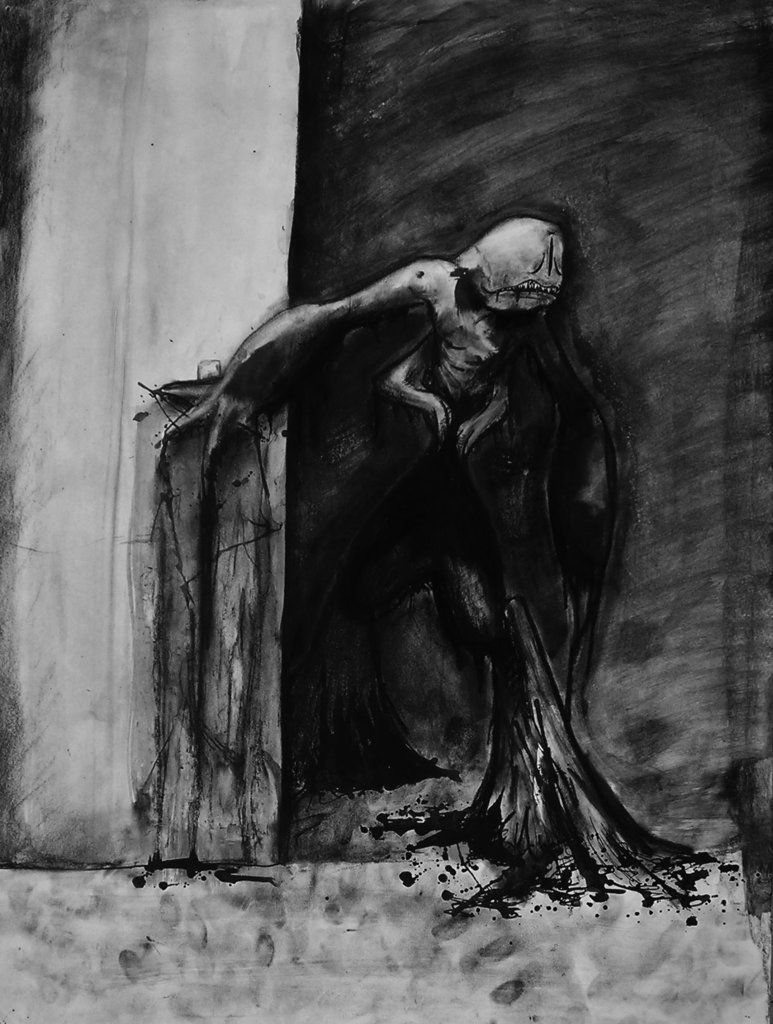 The Monster in my Closet by trousersquid Horror artwork