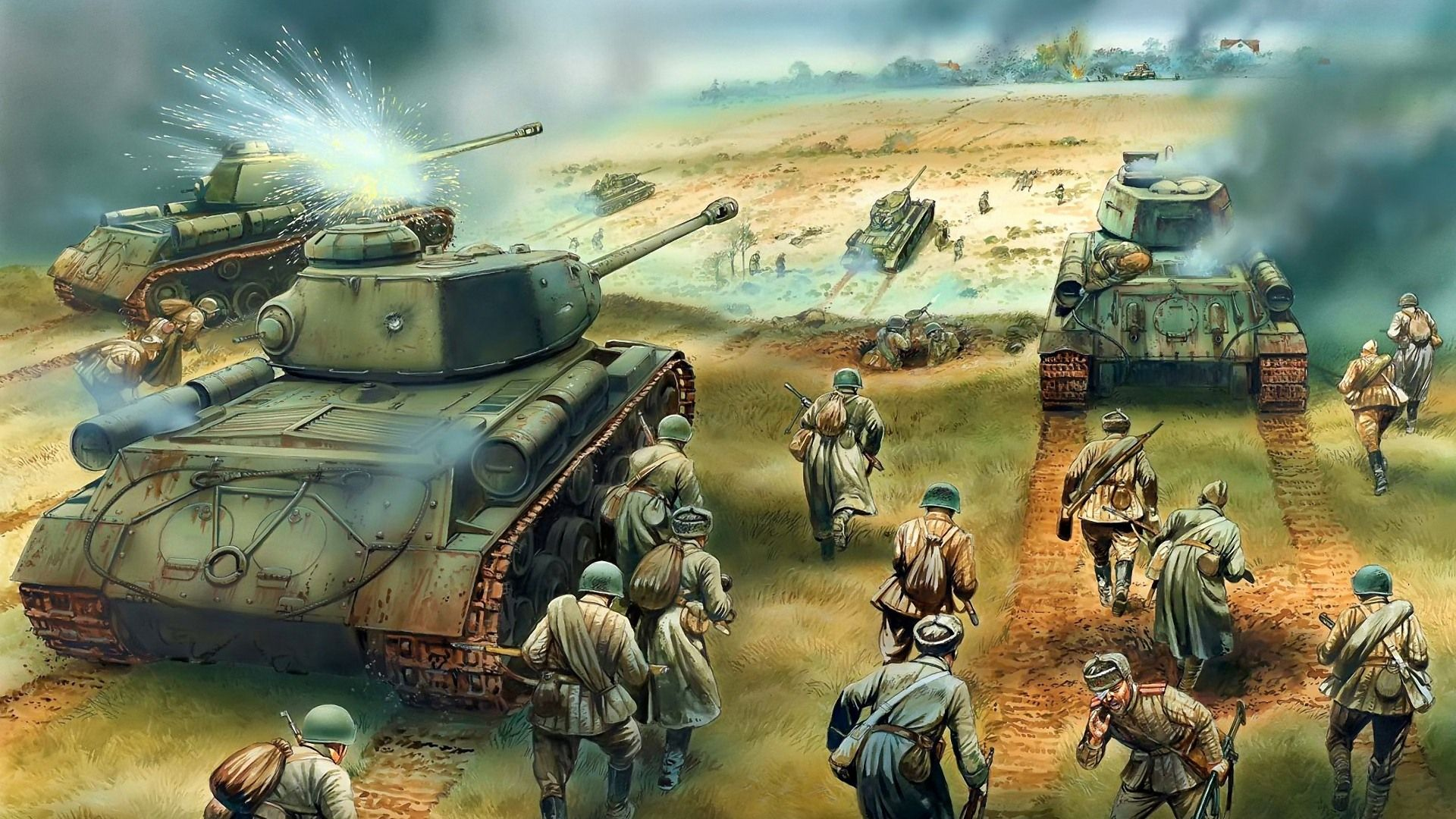 Military Tanks Armored Hd Painting Wallpapers 20 1920x1080 Army Wallpaper Military Wallpaper Tanks Military