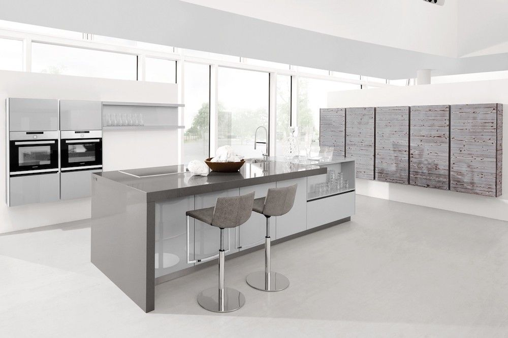 Grey Gloss Kitchen White Worktop Google Search High Gloss - Dark grey gloss kitchen