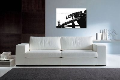 original art | Serene Black & White Aberdeen Beach | by Donna Lee Canvas Art