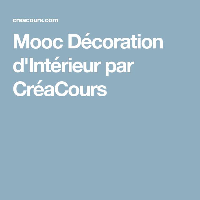 Mooc décoration dintérieur par créacours