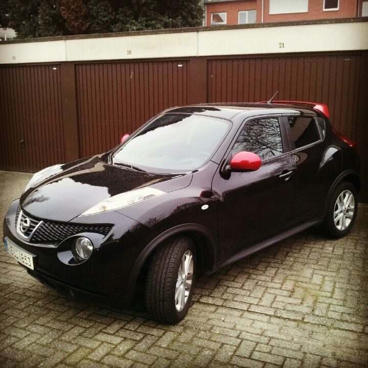 My Nissan Juke With The Red Nismo Collor Mirror Caps And
