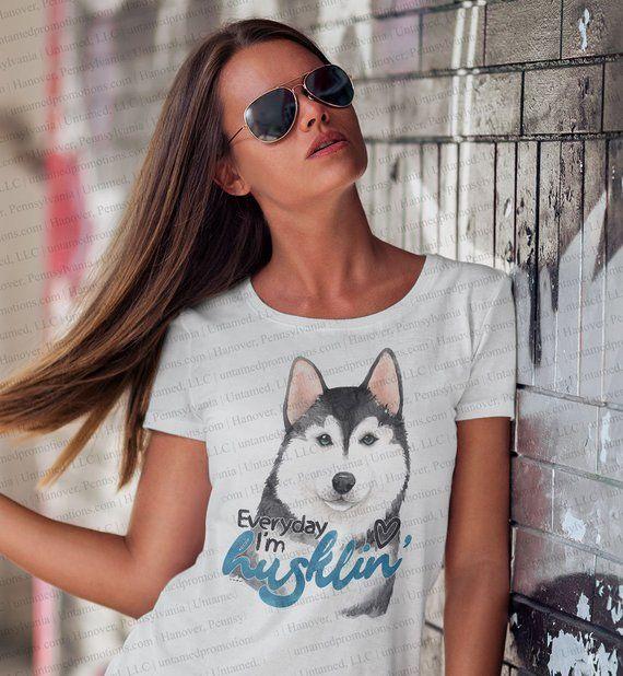 Everyday Im Husklin Husky T Shirt Made From 50 Cotton 50