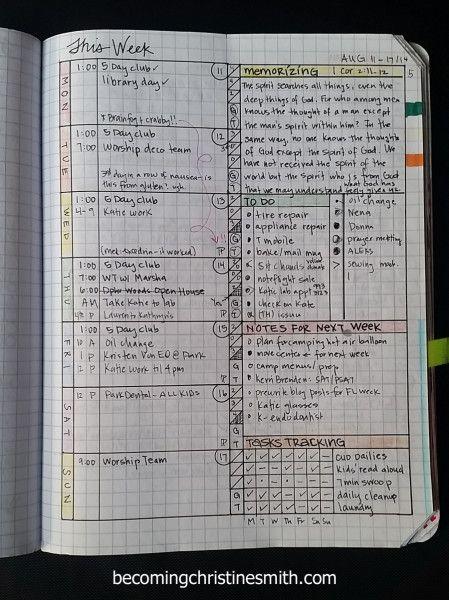 Super Easy Diy Planner Becoming Christine Smith Diy Planner Diy Planner Notebook Composition Notebook Planner