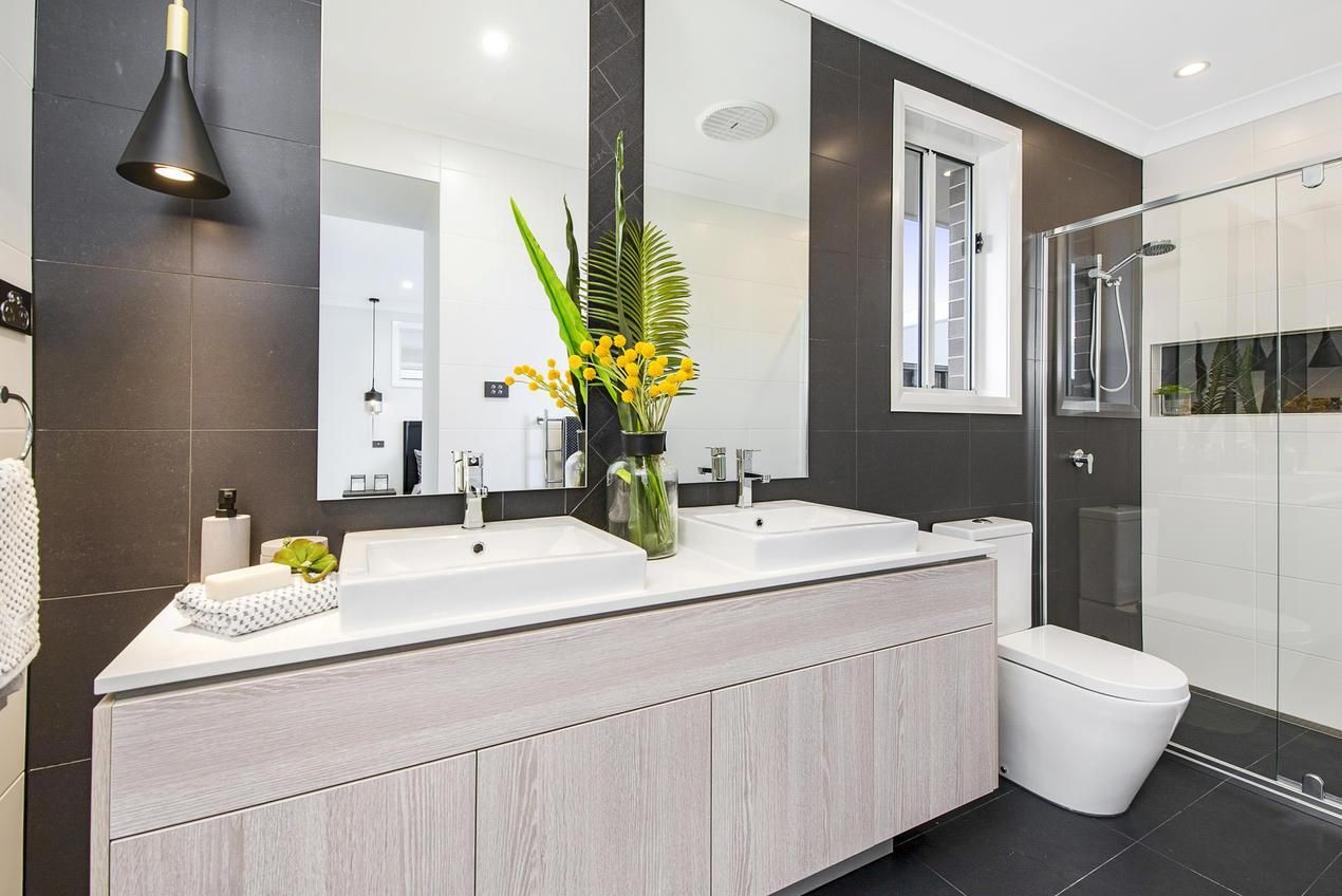 Elderton Homes, Bathroom designed using Everstone Tiles | Bathroom ...