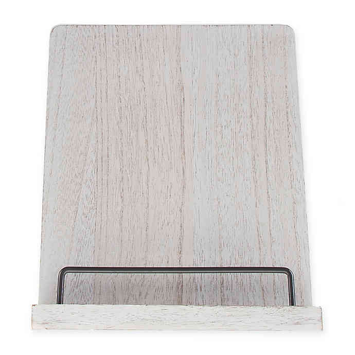 Bee & Willow™ Home Wood Cookbook Holder in White Wash