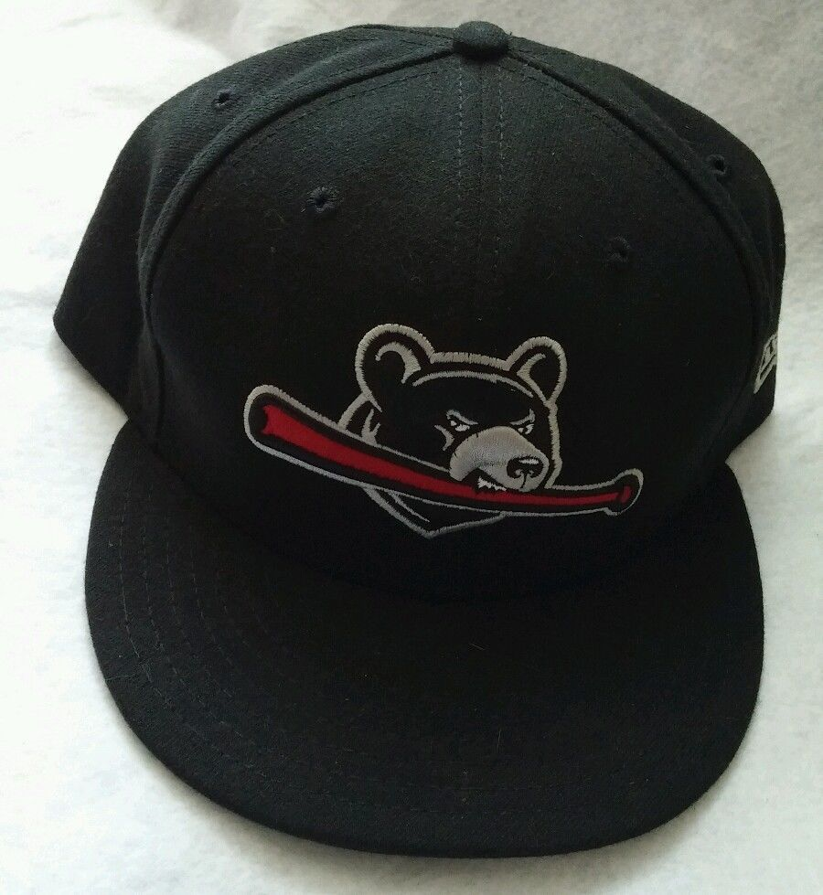 huge discount 9d7bb 2501a YAKIMA BEARS minor league baseball hat New Era black 7 7 8 wool fitted
