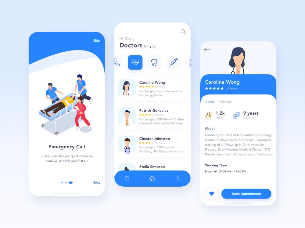 Hi Everyone This Healthcare App Concept Will Help Hospitals Digitalize Their Processes Its Design In 2020 Health App Design Medical App Mobile App Design Inspiration