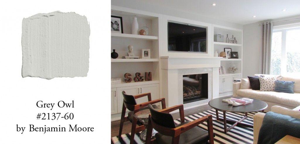 Benjamin Moore Gray Owl Livingroom