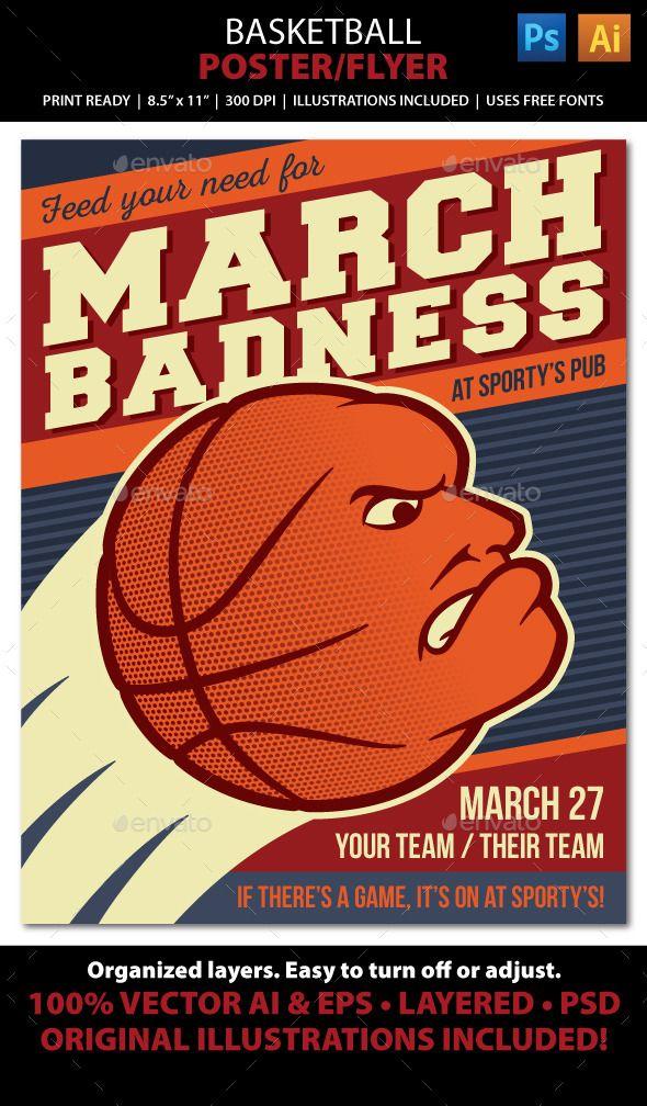 Basketball Poster / Flyer / Ad | Pinterest