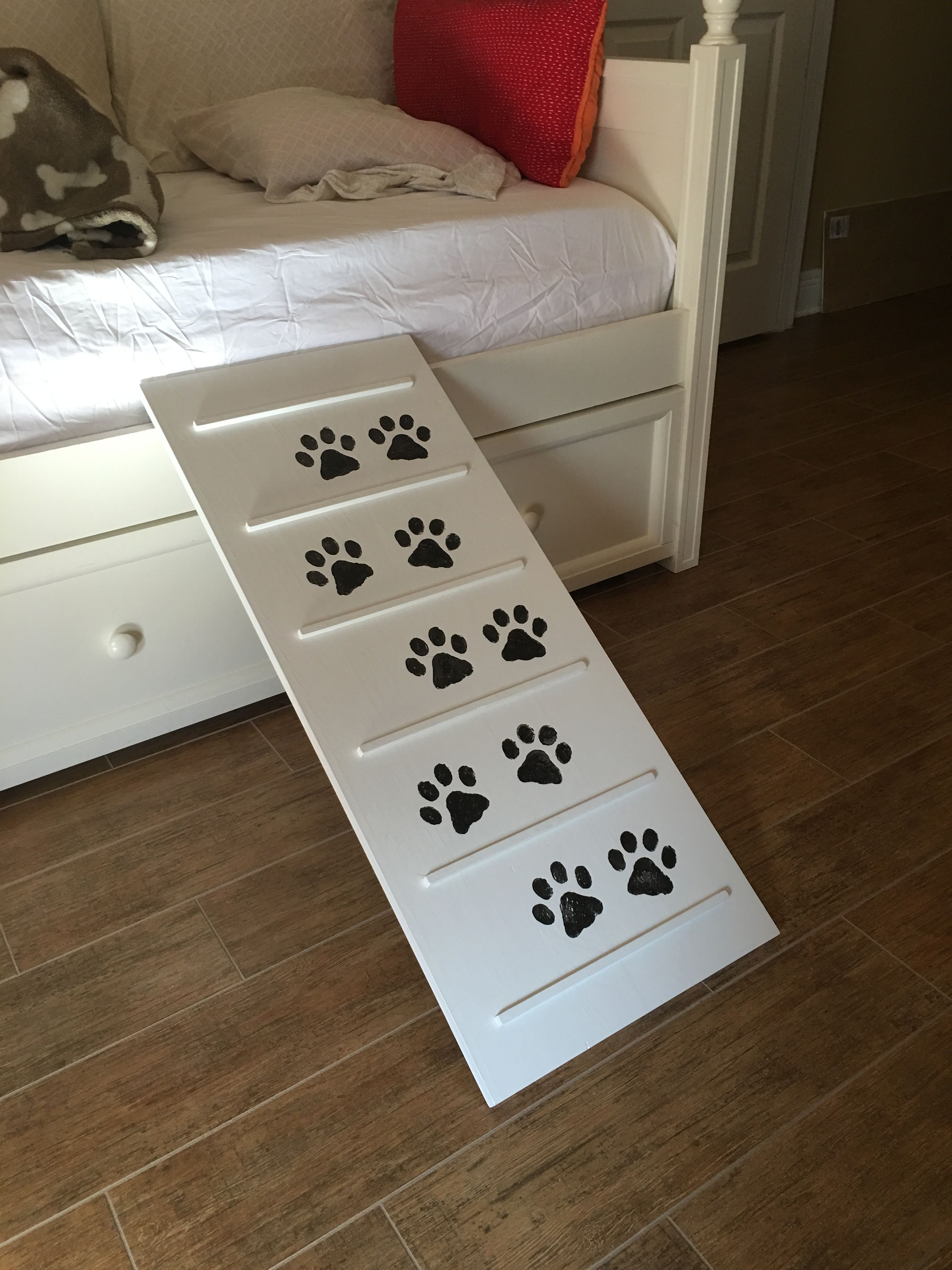 DIY dog ramp - Purchased wood from Lowes (the isle that sells wood ...