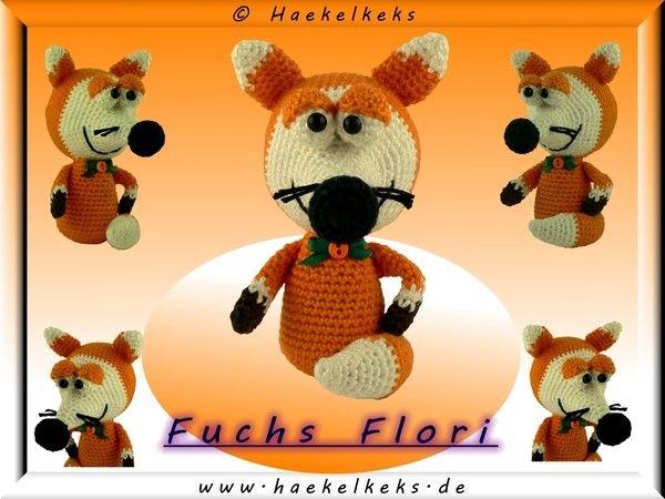 Fuchs / Vos Flori --- kostenlose Häkelanleitung von / gratis Haakpatroon van Haekelkeks