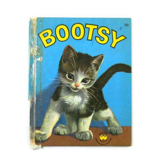 Bootsy The Kitten Vintage 1950s Children S By Blissandvinegar 5 00 Kittens Vintage Cat Books Animal Books