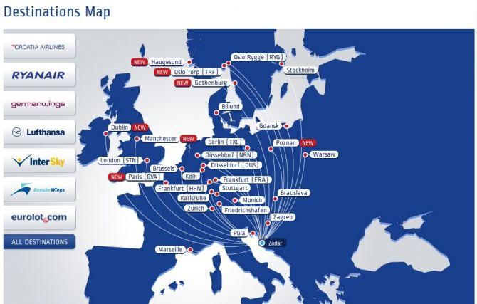 Zadar Airport Informations Croatia Croatia Zadar Croatia Airlines