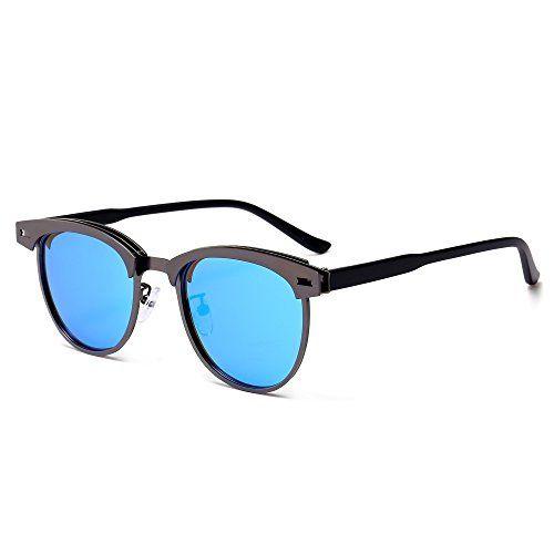 d81e6bed226 SUNGAIT Semi Rimless Polarized Sunglasses for Women and Men Retro Clubmaster
