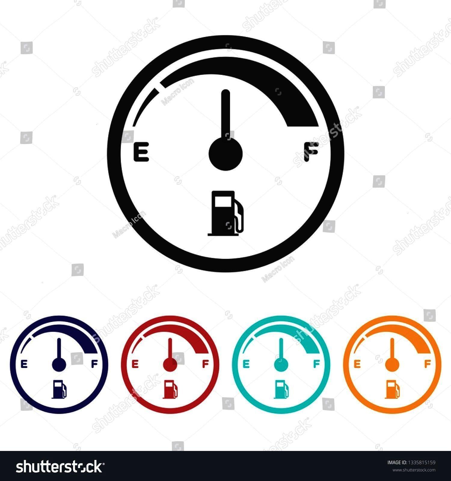 icon.Fuel indicator vector sign.Fuel consumption symbol ,Fuel gauge icon.Fuel indicator vector sign