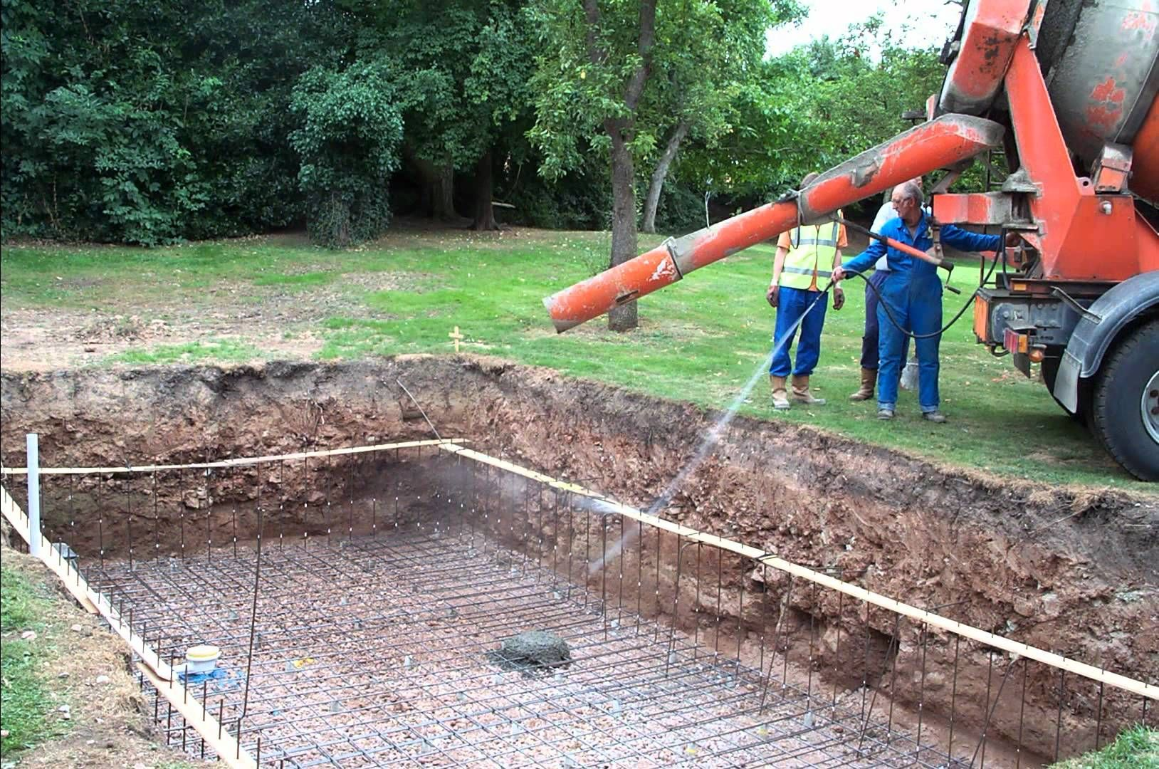 Build Your Own Swimming Pool Start To Finish Building A Swimming Pool Swimming Pool Construction Pool Construction