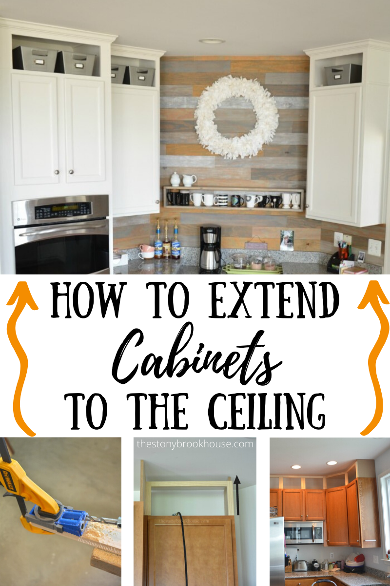 Diy Building Cabinet Extension To The Ceiling Updated Kitchen Updated Kitchen Cabinet In 2020 Building Kitchen Cabinets Cabinets To Ceiling Kitchen Cabinets To Ceiling