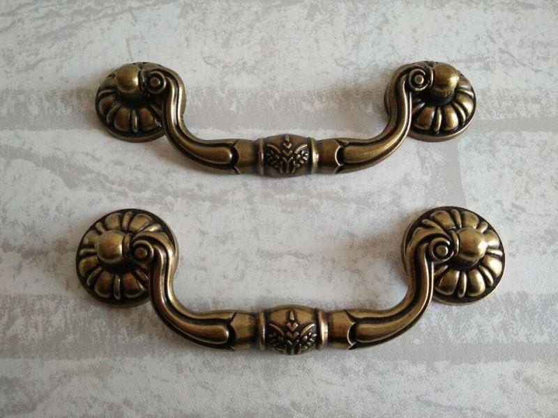 Bail Dresser Pull Drawer Pulls Handles Rustic Dark Antique Bronze Retro Furniture Kitchen Cabinet Pull Handle Hardware Vintage Style Drawer Pull Handles Kitchen